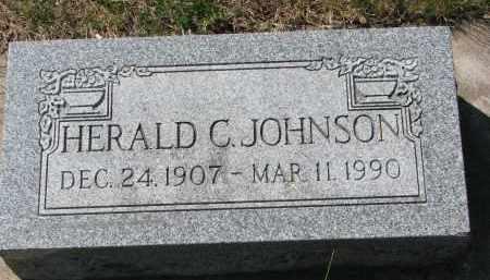 JOHNSON, HERALD C. - Clay County, South Dakota | HERALD C. JOHNSON - South Dakota Gravestone Photos