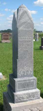 JOHNSON, HENDRIK - Clay County, South Dakota   HENDRIK JOHNSON - South Dakota Gravestone Photos