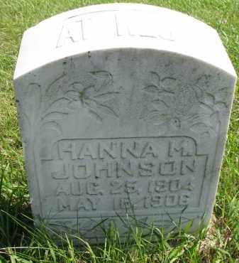 JOHNSON, HANNA M. - Clay County, South Dakota   HANNA M. JOHNSON - South Dakota Gravestone Photos