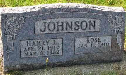 JOHNSON, HARRY L. - Clay County, South Dakota | HARRY L. JOHNSON - South Dakota Gravestone Photos