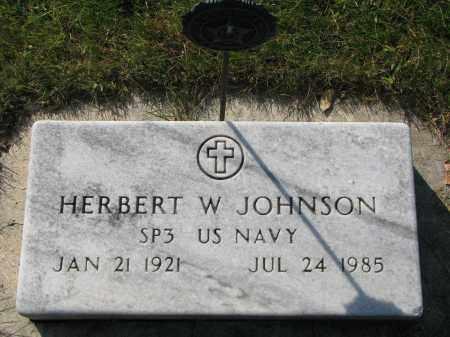 JOHNSON, HERBERT W. - Clay County, South Dakota | HERBERT W. JOHNSON - South Dakota Gravestone Photos