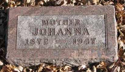 JOHNSON, JOHANNA - Clay County, South Dakota | JOHANNA JOHNSON - South Dakota Gravestone Photos