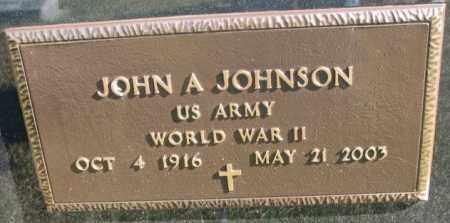 JOHNSON, JOHN A. (WW II) - Clay County, South Dakota | JOHN A. (WW II) JOHNSON - South Dakota Gravestone Photos