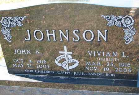 JOHNSON, VIVIAN L. - Clay County, South Dakota | VIVIAN L. JOHNSON - South Dakota Gravestone Photos