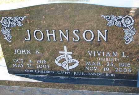 JOHNSON, JOHN A. - Clay County, South Dakota | JOHN A. JOHNSON - South Dakota Gravestone Photos