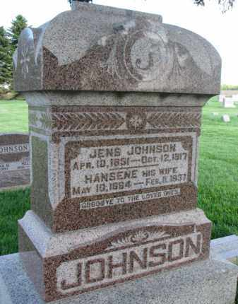 JOHNSON, JENS - Clay County, South Dakota | JENS JOHNSON - South Dakota Gravestone Photos