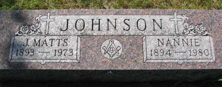 JOHNSON, NANNIE - Clay County, South Dakota | NANNIE JOHNSON - South Dakota Gravestone Photos