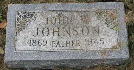 JOHNSON, JOHN W. - Clay County, South Dakota | JOHN W. JOHNSON - South Dakota Gravestone Photos