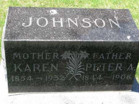 JOHNSON, PETER A. - Clay County, South Dakota   PETER A. JOHNSON - South Dakota Gravestone Photos
