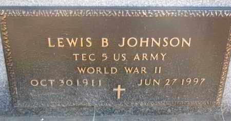 JOHNSON, LEWIS B. (WW II) - Clay County, South Dakota | LEWIS B. (WW II) JOHNSON - South Dakota Gravestone Photos