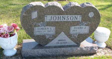 JOHNSON, LOREEN E. - Clay County, South Dakota | LOREEN E. JOHNSON - South Dakota Gravestone Photos