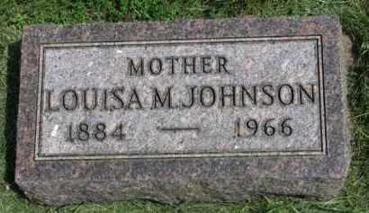 JOHNSON, LOUISA M. - Clay County, South Dakota   LOUISA M. JOHNSON - South Dakota Gravestone Photos