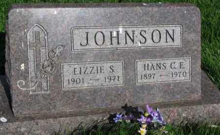 JOHNSON, LIZZIE S. - Clay County, South Dakota   LIZZIE S. JOHNSON - South Dakota Gravestone Photos