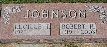 JOHNSON, LUCILLE T. - Clay County, South Dakota   LUCILLE T. JOHNSON - South Dakota Gravestone Photos