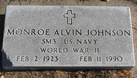 JOHNSON, MONROE ALVIN - Clay County, South Dakota | MONROE ALVIN JOHNSON - South Dakota Gravestone Photos