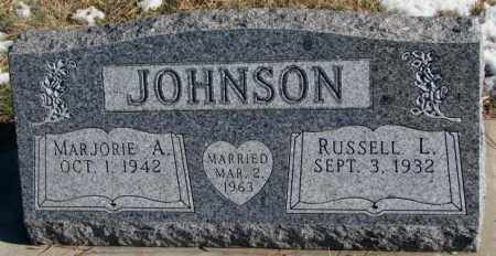 JOHNSON, RUSSELL L. - Clay County, South Dakota | RUSSELL L. JOHNSON - South Dakota Gravestone Photos