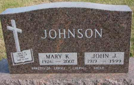 JOHNSON, MARY K. - Clay County, South Dakota | MARY K. JOHNSON - South Dakota Gravestone Photos
