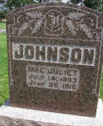 JOHNSON, MAE JULIET - Clay County, South Dakota | MAE JULIET JOHNSON - South Dakota Gravestone Photos