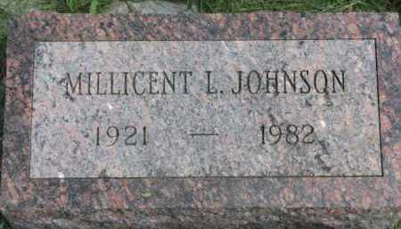 JOHNSON, MILLICENT L. - Clay County, South Dakota | MILLICENT L. JOHNSON - South Dakota Gravestone Photos