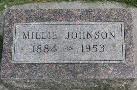 JOHNSON, MILLIE - Clay County, South Dakota   MILLIE JOHNSON - South Dakota Gravestone Photos