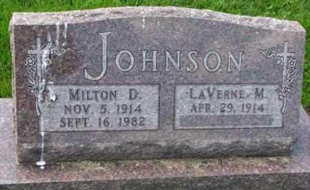 JOHNSON, MILTON D. - Clay County, South Dakota | MILTON D. JOHNSON - South Dakota Gravestone Photos