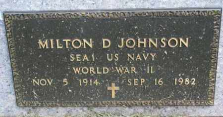 JOHNSON, MILTON D. (WW II) - Clay County, South Dakota | MILTON D. (WW II) JOHNSON - South Dakota Gravestone Photos