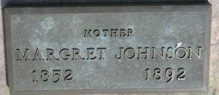 JOHNSON, MARGRET - Clay County, South Dakota | MARGRET JOHNSON - South Dakota Gravestone Photos