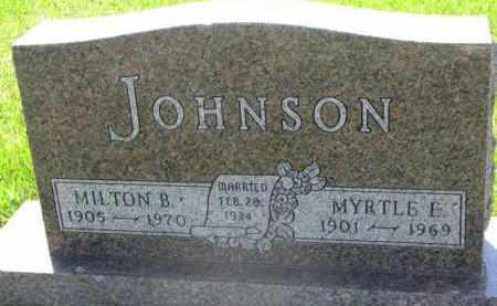 JOHNSON, MYRTLE E. - Clay County, South Dakota | MYRTLE E. JOHNSON - South Dakota Gravestone Photos