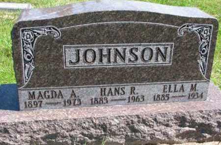 JOHNSON, HANS R. - Clay County, South Dakota | HANS R. JOHNSON - South Dakota Gravestone Photos