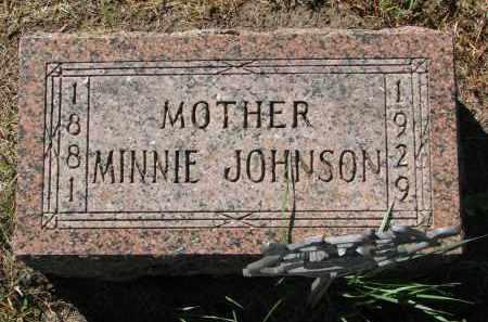 JOHNSON, MINNIE - Clay County, South Dakota   MINNIE JOHNSON - South Dakota Gravestone Photos