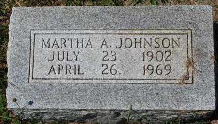 JOHNSON, MARTHA A. - Clay County, South Dakota | MARTHA A. JOHNSON - South Dakota Gravestone Photos