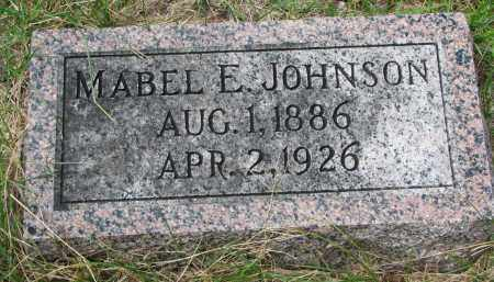 JOHNSON, MABEL E. - Clay County, South Dakota | MABEL E. JOHNSON - South Dakota Gravestone Photos