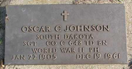 JOHNSON, OSCAR C. (WW II) - Clay County, South Dakota | OSCAR C. (WW II) JOHNSON - South Dakota Gravestone Photos