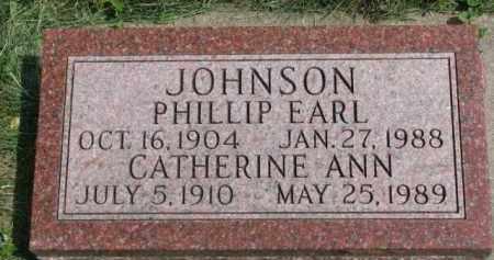 JOHNSON, PHILLIP EARL - Clay County, South Dakota | PHILLIP EARL JOHNSON - South Dakota Gravestone Photos