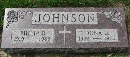 JOHNSON, PHILIP B. - Clay County, South Dakota | PHILIP B. JOHNSON - South Dakota Gravestone Photos