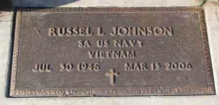 JOHNSON, RUSSEL L. - Clay County, South Dakota   RUSSEL L. JOHNSON - South Dakota Gravestone Photos