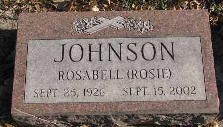 "JOHNSON, ROSABELL ""ROSIE"" - Clay County, South Dakota 