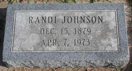 JOHNSON, RANDI - Clay County, South Dakota | RANDI JOHNSON - South Dakota Gravestone Photos