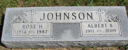 JOHNSON, ROSE H. - Clay County, South Dakota | ROSE H. JOHNSON - South Dakota Gravestone Photos