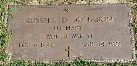 JOHNSON, RUSSELL D. - Clay County, South Dakota | RUSSELL D. JOHNSON - South Dakota Gravestone Photos