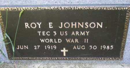 JOHNSON, ROY E. (WW II) - Clay County, South Dakota | ROY E. (WW II) JOHNSON - South Dakota Gravestone Photos
