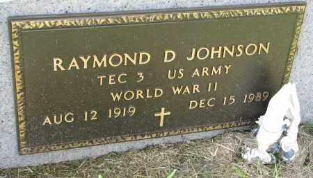 JOHNSON, RAYMOND D. (WW II) - Clay County, South Dakota | RAYMOND D. (WW II) JOHNSON - South Dakota Gravestone Photos
