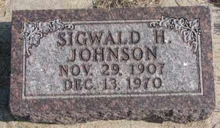 JOHNSON, SIGWALD H. - Clay County, South Dakota   SIGWALD H. JOHNSON - South Dakota Gravestone Photos