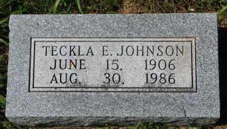 JOHNSON, TECKLA E. - Clay County, South Dakota | TECKLA E. JOHNSON - South Dakota Gravestone Photos