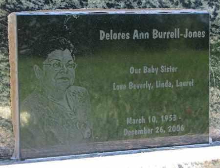 BURRELL JONES, DELORES ANN - Clay County, South Dakota   DELORES ANN BURRELL JONES - South Dakota Gravestone Photos