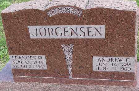 JORGENSEN, FRANCES W. - Clay County, South Dakota   FRANCES W. JORGENSEN - South Dakota Gravestone Photos