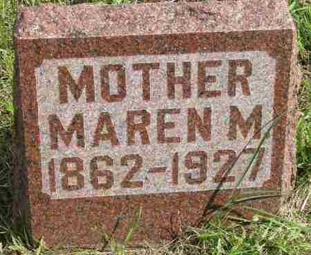 JORGENSEN, MAREN M. - Clay County, South Dakota   MAREN M. JORGENSEN - South Dakota Gravestone Photos