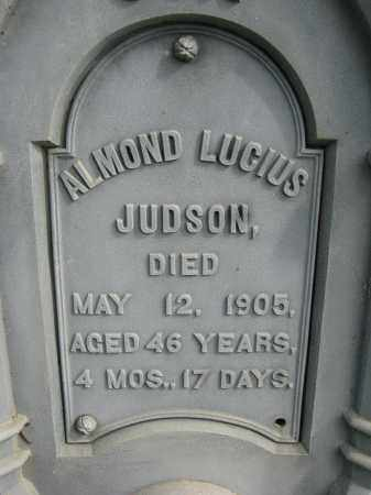 JUDSON, ALMOND L. (CLOSEUP) - Clay County, South Dakota   ALMOND L. (CLOSEUP) JUDSON - South Dakota Gravestone Photos