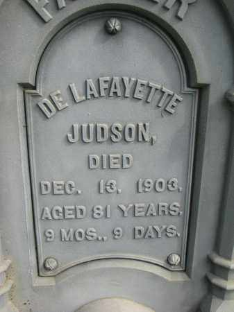 JUDSON, DE LAFAYETTE (CLOSEUP) - Clay County, South Dakota | DE LAFAYETTE (CLOSEUP) JUDSON - South Dakota Gravestone Photos