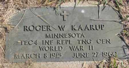 KAARUP, ROGER W. (WW II) - Clay County, South Dakota   ROGER W. (WW II) KAARUP - South Dakota Gravestone Photos